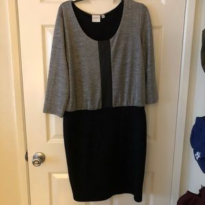 Grey and Black Fitted Dress